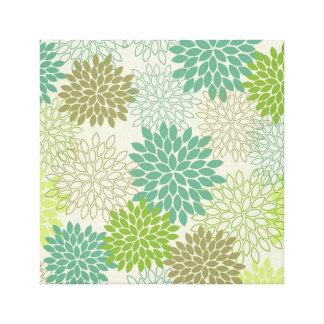 Canvas Print -- Green Mums