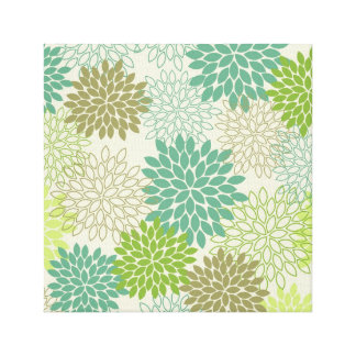 Canvas Print -- Light Green Mums