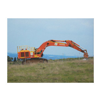 Canvas Print - Mechanical Digger