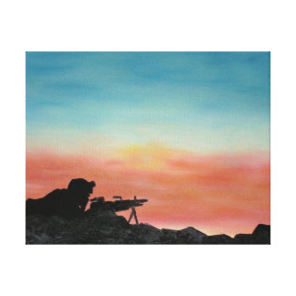 "Canvas Print, military ""Freedom Endures"" Painting"