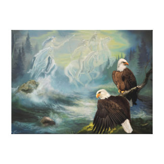 Canvas Print Native American Spirit Riders