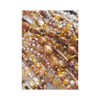 Canvas Print- Natural Earthtones, Bronze Beads