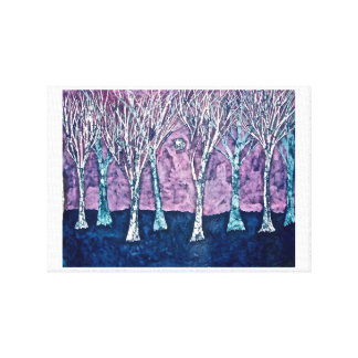 Canvas Print of Trees in Winter