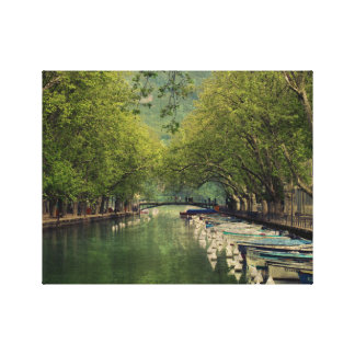 Canvas Print of Vassé Canal, Annecy, France