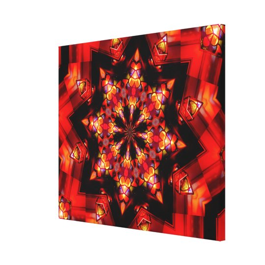 Canvas Print - Red Kaleidoscope Mandala