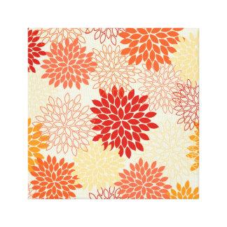 Canvas Print -- Red & Orange Mums
