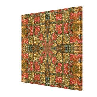 Canvas Print - Square Teardrops Mandala
