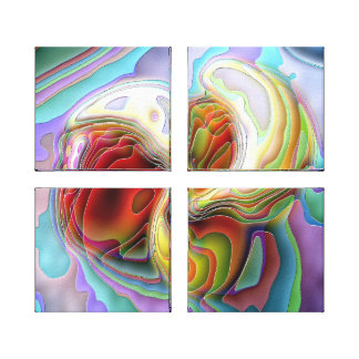 Canvas Print - Swirling Rainbows