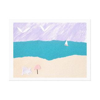 Canvas Print with Beach Design