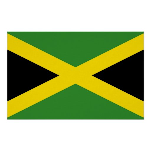 Canvas Print with Flag of Jamaica