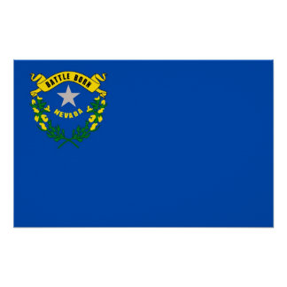 Canvas Print with Flag of Nevada, U.S.A.