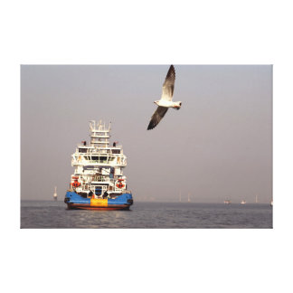 Canvas Prints ship bird water
