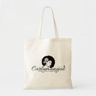 Canvas purse logo curlymangue