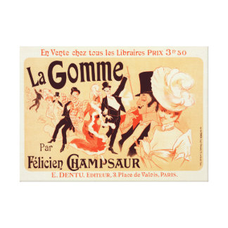 Canvas Reproduction Vintage French poster