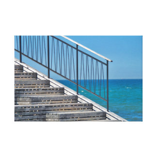 Canvas - stairs at the sea