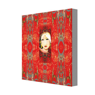 Canvas-The Oriental by Lin Masters-Red,Black,Gray Canvas Print