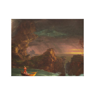 Canvas The Voyage of Life, Manhood, Thomas Cole
