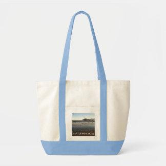 Canvas tote bag, ocean & pier in Myrtle Beach