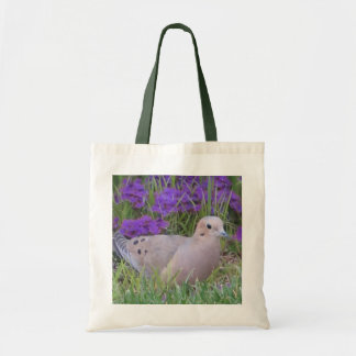 Canvas Tote--Mourning Dove in Verbena Tote Bag