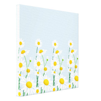 Canvas Wall Art-White Daisies