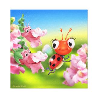 Canvas wall print Ladybug friendly Snap Dragons