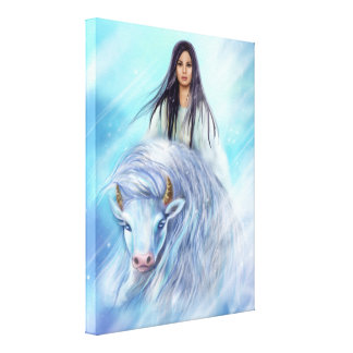 Canvas White Buffalo Calf Woman