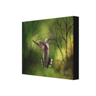 Canvas Wrap Hummingbird in Flight