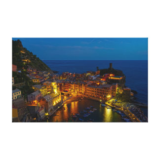 Canvas Wrap - Vernazza, Italy at Dusk