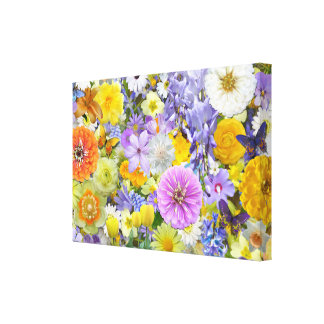 Canvas - Wrapped - Flowers and Butterflies
