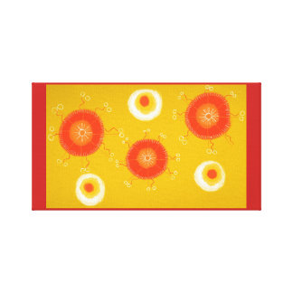 Canvas yellow circle