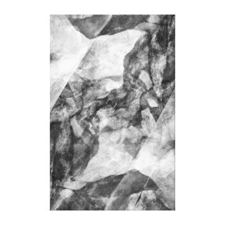 """""""Canyon"""" Black and White Digital Abstract Canvas Print"""