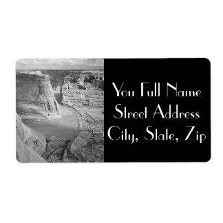 Canyon de Chelly Arizona par Ansel Adams Étiquette D'expédition
