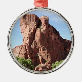 Canyon de Chelly, Arizona, Southwest USA 3 Silver-Colored Round Ornament