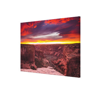 Canyon de Chelly, sunset, Arizona Canvas Print