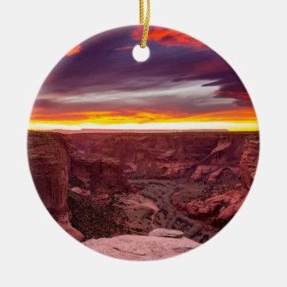 Canyon de Chelly, sunset, Arizona Ceramic Ornament