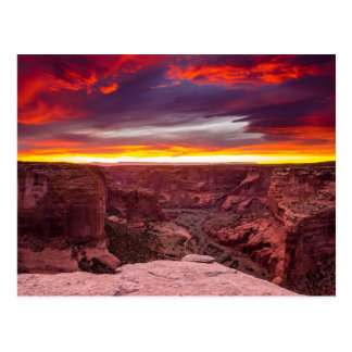 Canyon de Chelly, sunset, Arizona Postcard