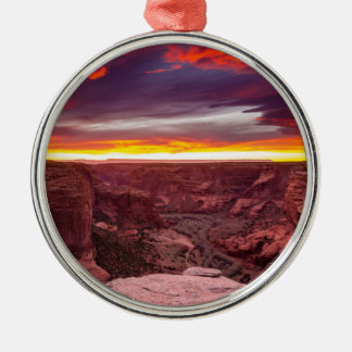 Canyon de Chelly, sunset, Arizona Silver-Colored Round Ornament