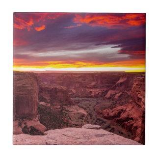Canyon de Chelly, sunset, Arizona Tile