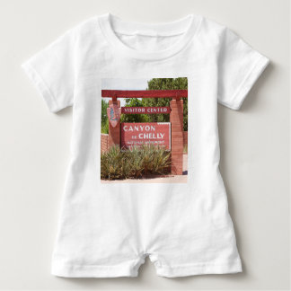 Canyon de Chelly Visitor Center sign, Arizona Baby Romper