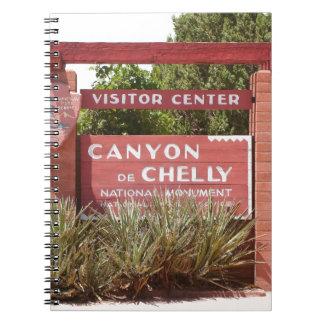 Canyon de Chelly Visitor Center sign, Arizona Notebook