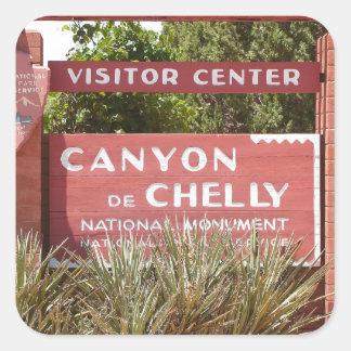 Canyon de Chelly Visitor Center sign, Arizona Square Sticker