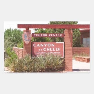Canyon de Chelly Visitor Center sign, Arizona Sticker