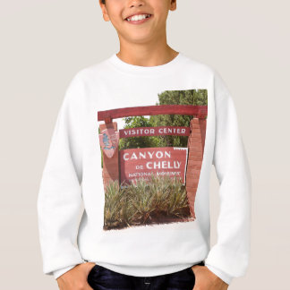 Canyon de Chelly Visitor Center sign, Arizona Sweatshirt