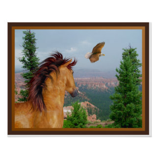 Canyon Horse -  Eagle Poster