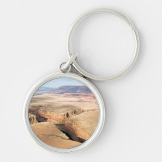 Canyon in the Canyon Silver-Colored Round Keychain