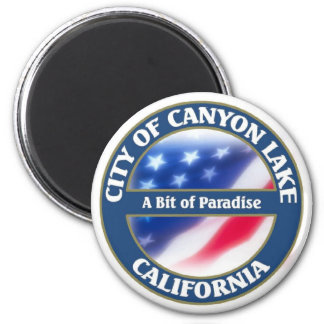 Canyon Lake 2 Inch Round Magnet