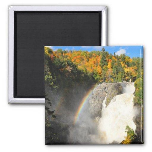 Canyon Sainte-Anne Waterfall Rainbow Quebec Magnet
