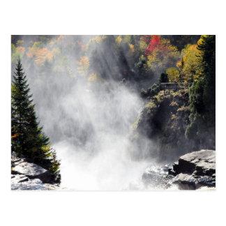 Canyon Ste-Anne Waterfall Mist Quebec Postcard