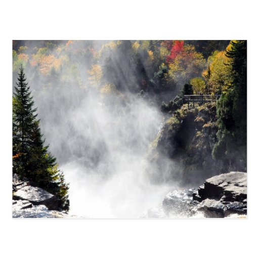 Canyon Ste-Anne Waterfall Mist Quebec Postcard