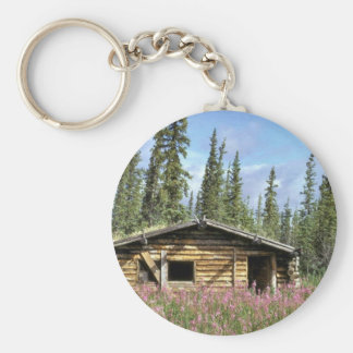 Canyon Village log cabin Keychain